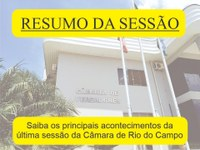 RESUMO DA DÉCIMA SÉTIMA SESSÃO ORDINÁRIA, REALIZADA NO DIA 07 DE JUNHO DE 2021.