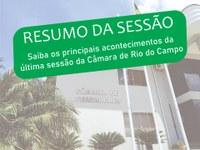 RESUMO DA DÉCIMA SEXTA SESSÃO ORDINÁRIA, REALIZADA NO DIA 31 DE MAIO DE 2021.