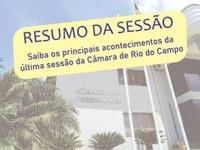 RESUMO DA OITAVA SESSÃO ORDINÁRIA, REALIZADA NO DIA 05 DE ABRIL DE 2021.