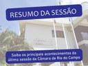 RESUMO DA TRIGÉSIMA SEGUNDA SESSÃO ORDINÁRIA, REALIZADA NO DIA 07 DE OUTUBRO DE 2021.