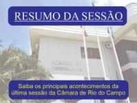 RESUMO DA VIGÉSIMA SESSÃO ORDINÁRIA, REALIZADA NO DIA 28 DE JUNHO DE 2021.